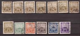 Tschechoslowakei / CSSR , Portomarke , 1919 / 1920 , Mi.Nr. 1 - 10 / 12 - 14 O / Used - Portomarken