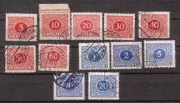 Tschechoslowakei / CSSR , Portomarke , 1928 , Mi.Nr. 55 - 66 O / Used - Portomarken