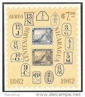 NICARAGUA 1962  MAIL ANIVERSARY SET OF 2V. SC 2016+ C509 MNH - Nicaragua