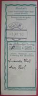 Bozen / Bolzano (BZ) - Abschnitt Einer Überweisung (Deutsches Formular) 1910 - Affrancature Meccaniche Rosse (EMA)