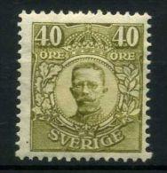 SUEDE  ( POSTE ) : Y&T  N° 100  TIMBRE  NEUF  AVEC  CHARNIERE    , A  VOIR .
