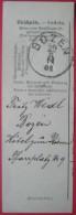 Bozen / Bolzano (BZ) - Abschnitt Einer Begleitadresse? (Deutsch-Italienisches Formular) 1901 - Affrancature Meccaniche Rosse (EMA)