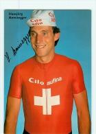 Hansjörg AEMISEGGER, Autographe Manuscrit, Dédicace. 2 Scans. Cyclisme. Cilo Aufina - Cycling