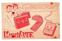 ZE-Buvard.-Marcel AVEZ-Valises Et Cartables-----------cachet GALERIES DE L'ALLOEU-LAVENTIE - C