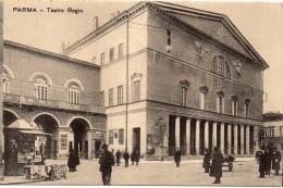 Emilia Romagna-parma Veduta Particolare Esterno Teatro Regio Animata Primi 900 - Parma