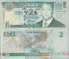 Fiji 2000 - 2 Dollars Millennium - Pick 102 UNC - Fiji