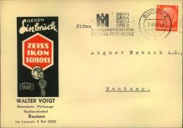 1941, Reklame, Werbeumschlag Zeiss Ikon Ab BAUTZEN - Sachsen