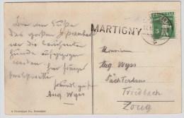 """Schweiz, 1910, L1, """" MARTIGNY """" , #4325 - Spoorwegen"""