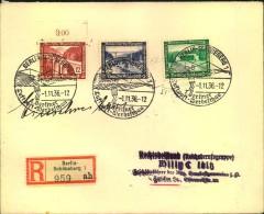 1936, Portogerechtes Einschreiben Mit Sonderstempel BERLIN-SCHÖNEBERG Und WHW-Frankatur - Allemagne