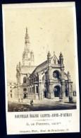 Photo Albuminée Cdv Originale 1870 - Nouvelle église Sainte Anne D' Auray -- Collard Phot   M1 - Lieux