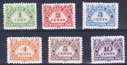 NEWFOUNDLAND - 1939 Postage Due Set Of Six. Scott J1-6. Superb MNH ** - Newfoundland