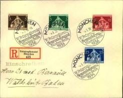 1936, Einschreiben Mit Sonderstempel MÜNCHEN VI. Internationaler Gemeindekongress - Germania