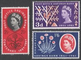 Great Britain. 1963 Centenary Of Post Office Savings Bank. MH Complete Set. - 1952-.... (Elizabeth II)
