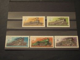 RUSSIA - 1977 LOCOMOTIVE 5 Valori - NUOVI(++) - 1923-1991 UdSSR