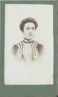 Photographie Montée Sur Carton/Femme Avec Plastron// Vers 1900 - 1910/PHOTN70 - Non Classificati
