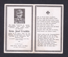 Souvenir Zur Erinnerung An Gren. Josef Urschitz ( Soldat Allemand Décédé Combat Près De Barenthal En 1945 Guerre 1939- - 1939-45