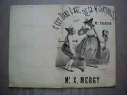 C'EST DANS L'NEZ QU'CA M'CHATOUILLE PAROLES & MUSIQUE DE Mr X.MERCY CHANTEE PAR Mlle THERESA A L'ALCAZAR - Partitions Musicales Anciennes