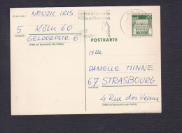 Entier Postal Postkarte De Koln Vers Strasbourg - Germany