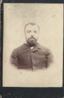 Photographie Montée Sur Carton /Grand Format//Visage D'homme Barbu /Vers 1900-1910 PHOTN84 - Non Classificati