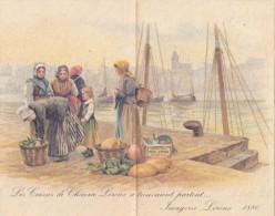 Calendrier Les Caisses De Chicorée Leroux Se Trouvaient Partout... Imagerie Leroux 1880 - Calendarios