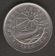 MALTA 5 CENTS 1986 - Malta