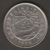 MALTA 25 CENTS 1986 - Malta
