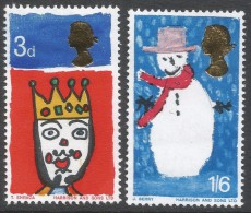 Great Britain. 1966 Christmas. MH Complete Set. SG 713-714 - Unused Stamps