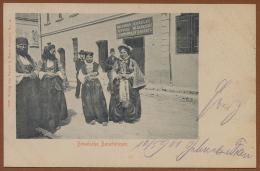 BOSNIA, HADZICI, Near SARAJEVO - PAZARIC, NATIONAL COSTUME, OFFICE Of LIME - CALX PICTURE POSTCARD 1901 RARE!! - Bosnie-Herzegovine