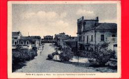 ITALIA - MARCHE - Cartolina Viaggiata Del 1938 - PORTO S. ELPIDIO A Mare (Fermo) - Via Umberto Maddalena E Stazione - Andere Städte