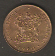 SUD AFRICA SERIE 2 MONETE 1 2 CENTS 1990 - Sud Africa