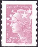 Autoadhésif(s) De France N°  594 ** Au Modèle 4569 - Marianne De Beaujard 50 Grammes Prio Vieux Rose - France