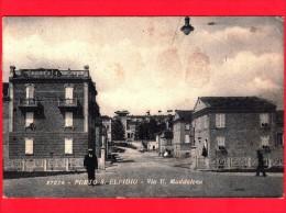 ITALIA - MARCHE - Cartolina Viaggiata Del 1938 - PORTO S. ELPIDIO (Fermo) - Via U. Maddalena - Andere Städte