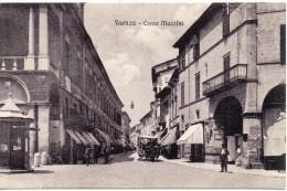 Emilia Romagna- Faenza Corso Mazzini Veduta Particolare Con Carro  Cavalli Animata Primi 900 - Faenza