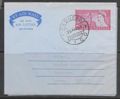 1966 British Air Letter, Paquebot Marking Vigo, Spain (25 AGO 66) - 1961-70 Lettres