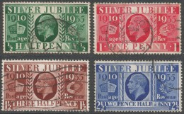 Great Britain. 1935 KGV Silver Jubilee. Used Complete Set. SG 453-6. - 1902-1951 (Kings)