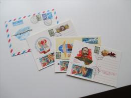 UDSSR / Sowjetunion 1983 Ganzsachen 4 Stück. Flugzeug. Mit Zusatzfrankaturen. - 1923-1991 USSR