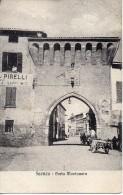 Emilia Romagna-faenza Porta Montanara Veduta Carro Pubblicita'pirelli Animata Primi 900 - Faenza