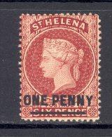 ST HELENA, 1884 1d Red Very Fine MM - Sint-Helena