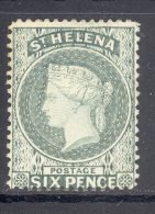 ST HELENA, 1884 6d Grey Unused No Gum, Cat £42 - Sint-Helena