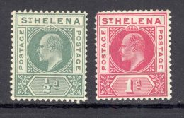ST HELENA, 1902 ½d (very Fine MM), 1d (fine MM Rounded Corner), Cat £19 - Sint-Helena