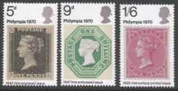 """Great Britain. 1970 """"Phylimpia ´70"""" Stamp Exhibition. MNH Complete Set. SG 771-774 - Used Stamps"""