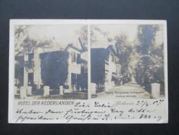 AK Real Photo / Mehrbild 1907 Niederländisch Indien.Hotel Der Nederlanden Batavia. Nach Born Pommern  Interessante Karte - Nederlands-Indië