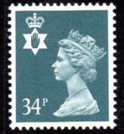 GB N. Ireland 1971-93 34p Regional Machin, MNH (SG66) - Regional Issues
