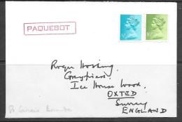 Paquebot Cover, British Machin Stamp Used In St. Georges's Bermuda - Bermuda