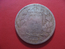 1 Franc 1817 K Bordeaux Louis XVIII 5056 - H. 1 Franc