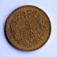 5 F LAVRILLIER Bronze 1946 - France