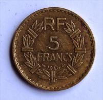 5 F LAVRILLIER Bronze 1946 - Frankreich