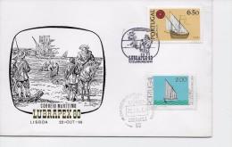 """TIMBRES - STAMPS - MARCOPHILIE - PORTUGAL - 1980 - POSTE MARITIME - LUBRAPEX """"80"""" - 1910-... République"""
