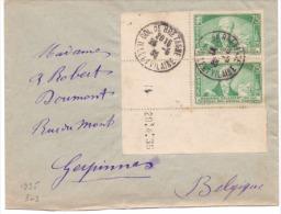 France N° 303 Sur Lettre - Coin Daté - Poststempel (Einzelmarken)