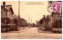 CPA  FRANCONVILLE ,  Boulevard Pasteur Et Rue Carnot - Franconville